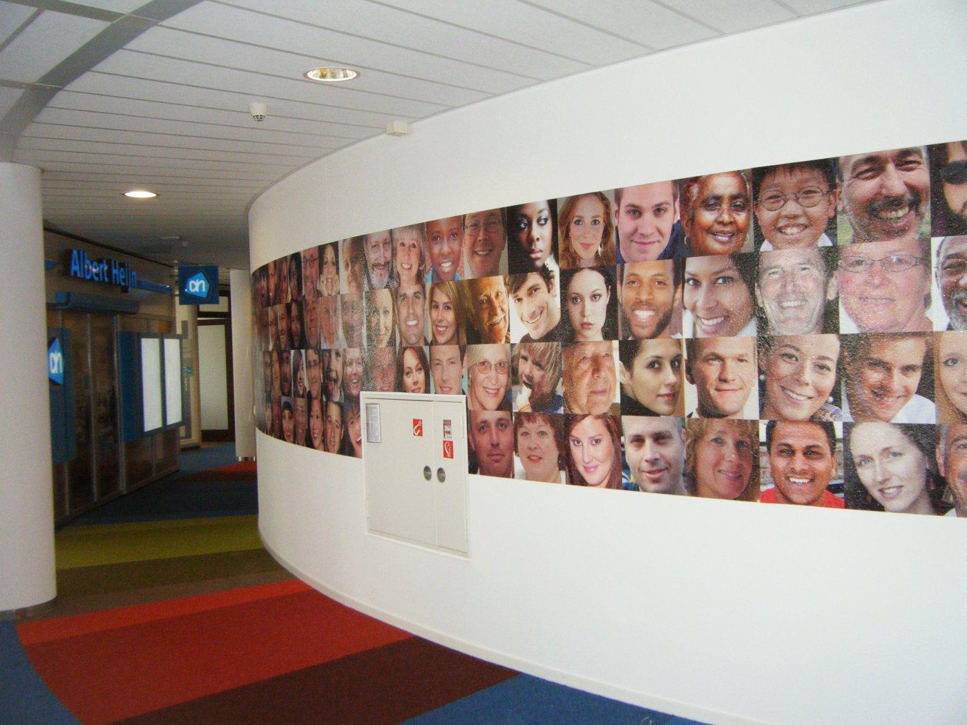 Muurprint hoofdkantoor Albert Heijn